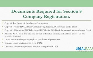Section 8 company registration process